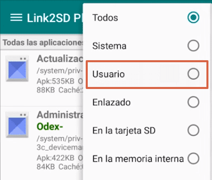 Cómo mover las aplicaciones a la SD en Android usando Link2SD paso 3