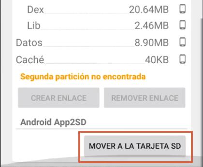 Cómo mover las aplicaciones a la SD en Android usando Link2SD paso 5