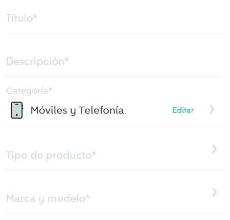 Cómo publicar un producto en Wallapop desde la app para dispositivos móviles paso 5