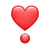 Exclamación de corazón