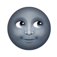 Luna nueva con cara