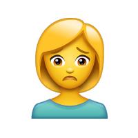 Persona con expresión triste